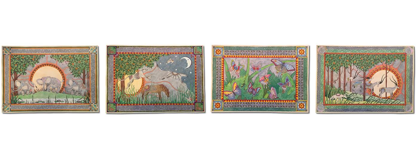 Ruby Charm Colors original art