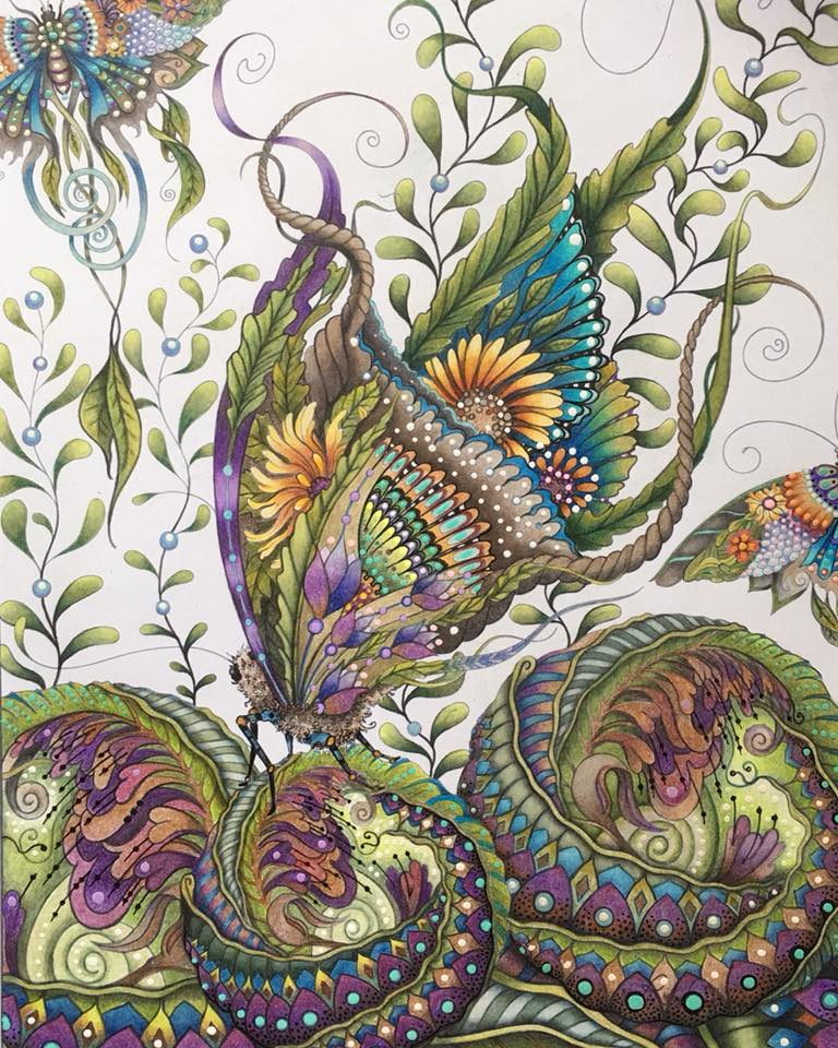 Butterfly with Botanical Spheres © 2018 by Susan Carlson