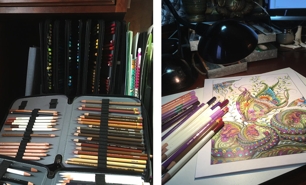 My working space - Ruby Charm Colors