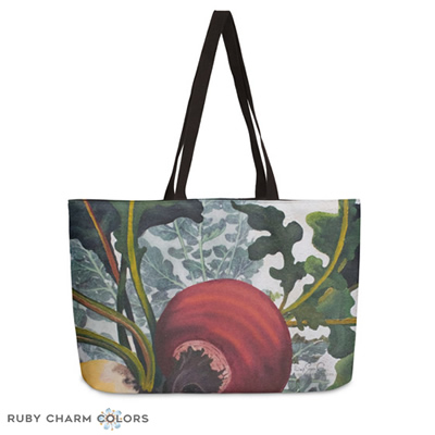 Ruby Charm Colors Weekender Bag: Eat Up Your Beets