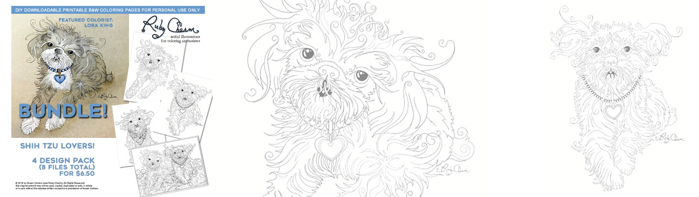 Shih Tzu in Show Coat coloring page   Free Printable Coloring Pages   400x1420