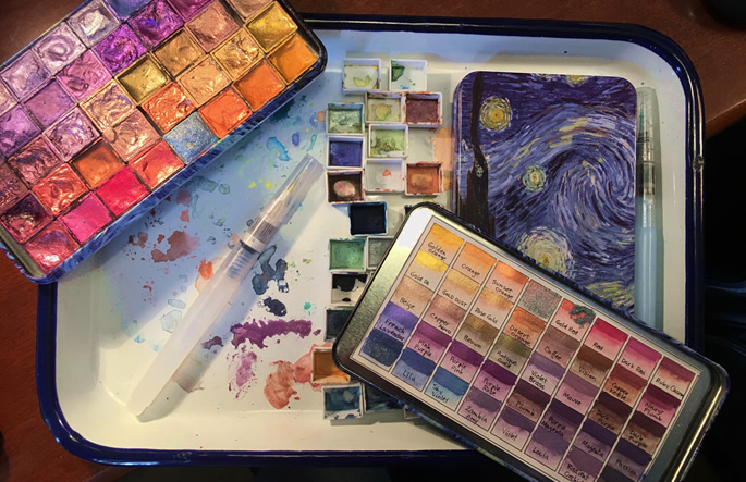 Karen Spencer handmade mica watercolors_RubyCharmColors