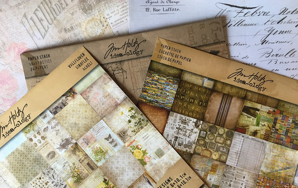 Tim Holtz Idea-ology Paper RubyCharmColors